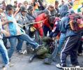 Indígenas de Mallku Khota hirieron a 4 policías (Foto APG)