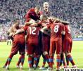 Futbolistas festejan la victoria