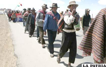 Marchistas buscarán reunión con el Presidente Morales