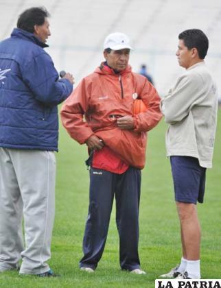 Marcos Ferrufino, Mario Parrado y Carlos Saucedo