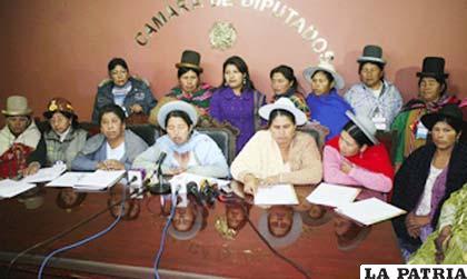 Mujeres bartolinas piden que una mujer sea Vicepresidente