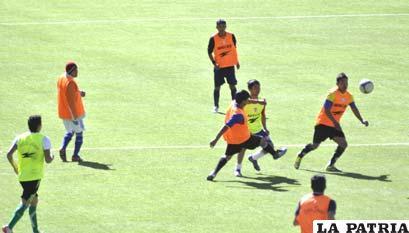 Futbolistas que estuvieron mostrando sus condiciones en estos dos días de trabajo