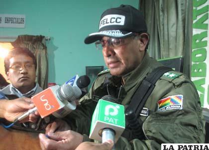 El director de la Felcc, coronel Pastor Orellana