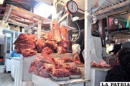 Precio del kilo de carne de res oscila entre 28 a 37 bolivianos