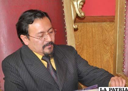 Miguel Guerra, anterior oficial Mayor de Cultura del Municipio de Oruro