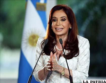 Presidenta argentina, Cristina Fernández