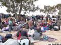 Refugiados escapan de Ucrania