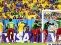 Neymar lleva a  octavos a Brasil