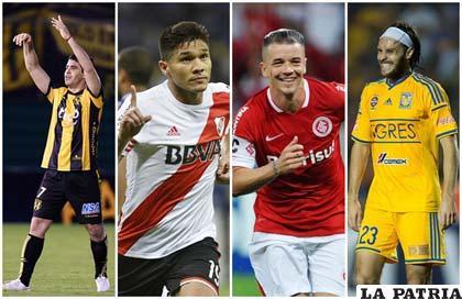Benítez (Guaraní), Gutiérrez (River Plate), D´Alessandro (Internacional) y Lugo (Tigres), figuras sobresalientes en sus equipos