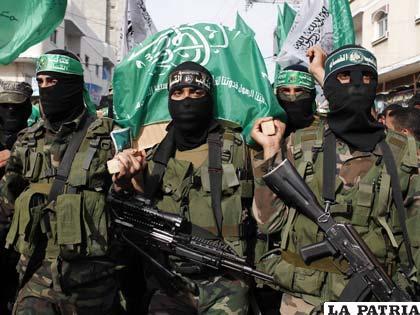 Militantes del grupo radical palestino Hamas
