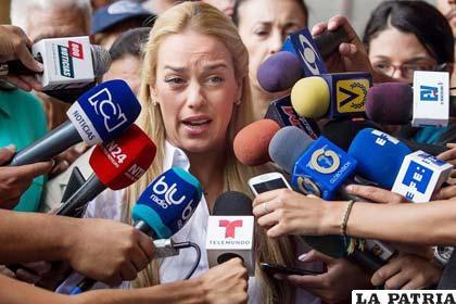 Lilian Tintori, esposa del opositor venezolano en huelga, Leopoldo López