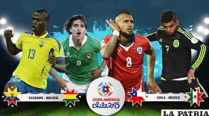 Enner Valencia, Marcelo Martins, Arturo Vidal y Jesús Cardona estarán en acción esta tarde /conmebol.com