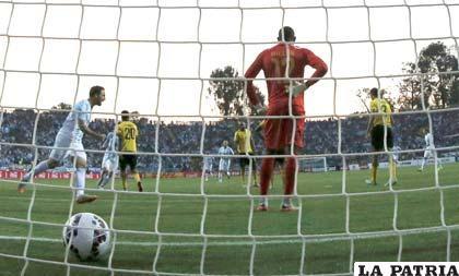Gonzalo Higuaín anotó el único gol del partido /ole.com