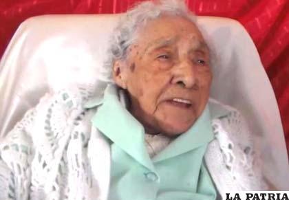 María Angélica Ramírez, 106 años de edad /ANF
