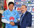 Eduardo Villegas junto a Guido Loayza