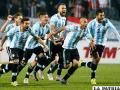 Los argentinos Festejan por la clasificación a la semifinal