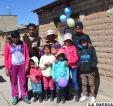 Familia reintegrada por aldeas SOS en Caracollo