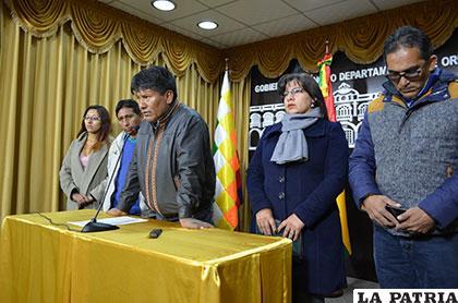 Vásquez evaluó su primer año a cargo de la Gobernación de Oruro