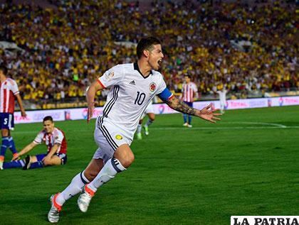 James Rodríguez fue autor del segundo gol de Colombia /as.com