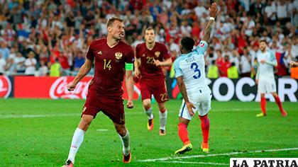 Berezutski (14), autor del gol del empate para Rusia /navarra.com