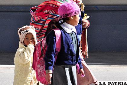 El frío está en aumento y los niños son los más vulnerables