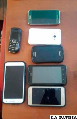Los celulares recuperados