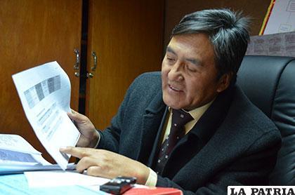 El encargado distrital del Consejo de la Magistratura, René Delgado