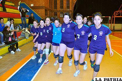 El equipo de FNI que logró el primer lugar en la competencia