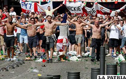 Ingleses y rusos generan desórdenes en la calles de Marsella /as.com
