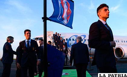 La selección española desembarcó en Toulouse en medio de bastantes medidas de seguridad