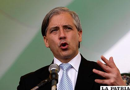 El Vicepresidente Álvaro García Linera /ELDINAMO.CL