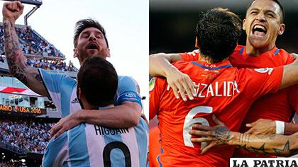 Argentina y Chile se medirán este domingo en la gran final de la Copa América Centenario /deportesrcn.com