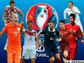 Francia frente a Rumanía en el  inicio de la competencia europea