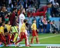 Una pirueta de Ronaldo al ingresar al campo de juego /AS.COM