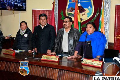 Nueva directiva de la Asamblea Legislativa Departamental de Oruro