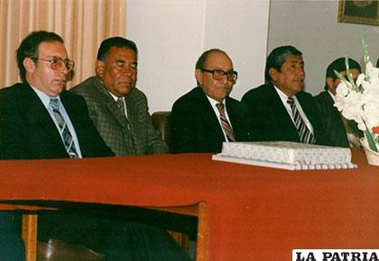 Marcelo Miralles (+), José Verduguez, Cristóbal Molina (+) y Edmundo Rocabado (+)