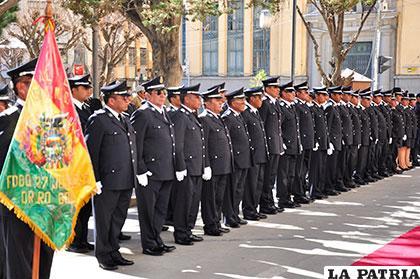 La Guardia Municipal en formación /Archivo