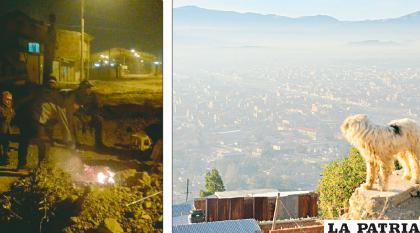 Funcionarios municipales apagaron fogatas pero al día siguiente Oruro amaneció así /GAMO/LA PATRIA