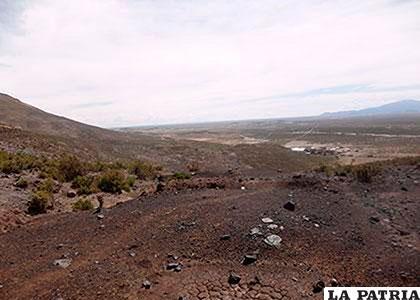Negrillos es uno de los yacimientos con mayor potencial en Oruro