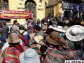 Protesta de trabajadores de Avance de Obras en exteriores de la Alcaldía
