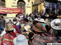 Alcalde descalificó la movilización de trabajadores de avance de obras