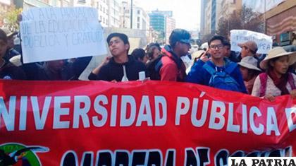 Una marcha de la UPEA en demanda de mayor presupuesto /ANF