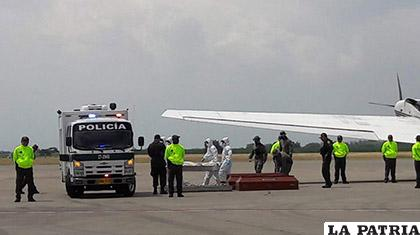Arribo de los cuerpos encontrados en el suroeste de Colombia /Zona Cero