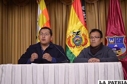 Autoridades de Dircabi en la conferencia de prensa