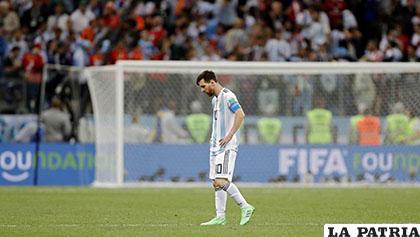 Leo Messi, cabizbajo tras la derrota de Argentina ante Croacia (0-3) /MUNDO DEPORTIVO