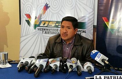 El viceministro de Defensa Social y Sustancias Controladas, Felipe Cáceres /Kandire