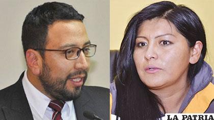 El viceministro Jiménez y la alcaldesa Soledad Chapetón /INTERNET