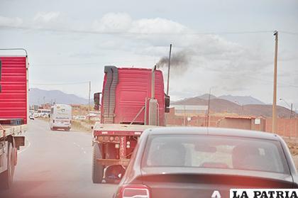 El parque automotor es otro factor contaminante