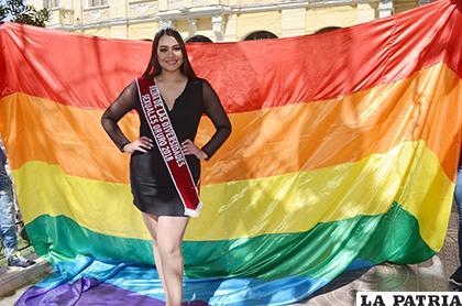 Natilena Blanco preparada para defender los derechos del Colectivo TLGB