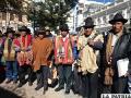 Autoridades del ayllu Culli Yaretani estuvieron en la ciudad el reciente viernes